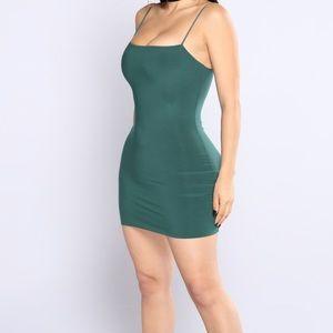 fashion nova green mini